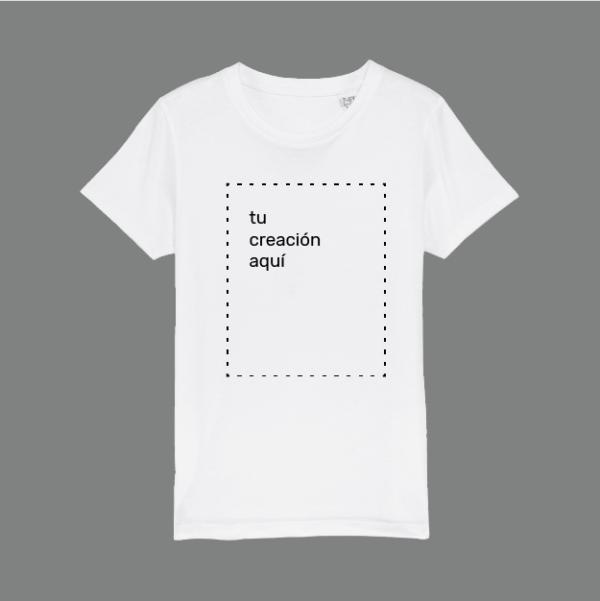 camiseta blanca personalizable