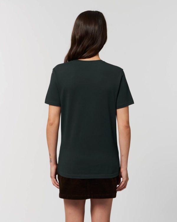 camiseta ceñida personalizable negra para chica