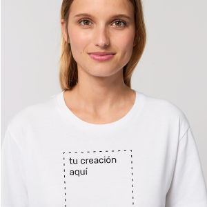 camiseta para chica personalizable blanca