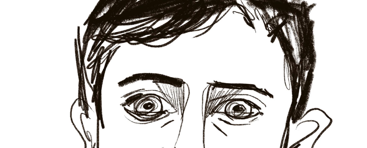 primer plano de un retrato feo