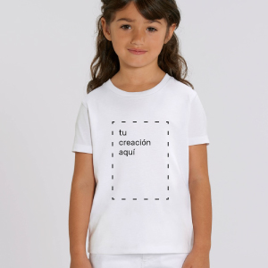 Camiseta blanca personalizable para niños