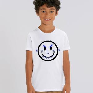 camisetas para niños traviesos con ilustración de carita sonriente traviesa