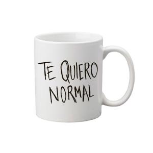 Taza divertuda con mensaje: Te quiero normal