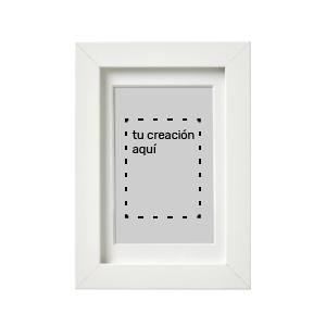 Retratos personalizados en marco blanco